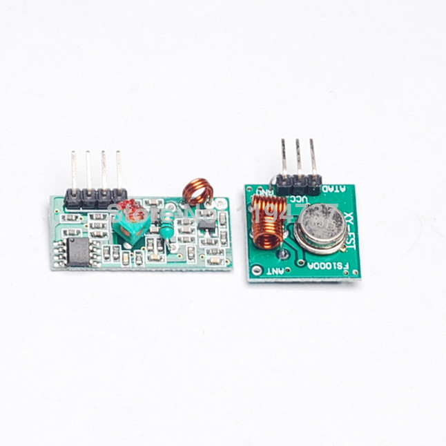 RF wireless receiver module & transmitter module board for arduino super regeneration 315/433MHZ DC5V (ASK /OOK) 20pair =40pcs(China (Mainland))