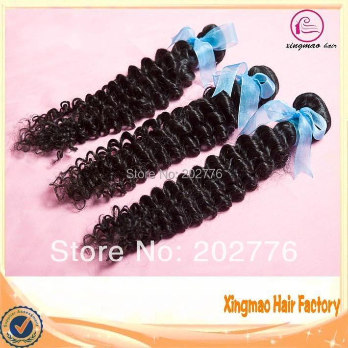 3 Bundles 8A Unprocessed Бразильские женские волосы Deep Wave Virgin Brazilian Hair Extension Cheap Hair Weaves In Stock