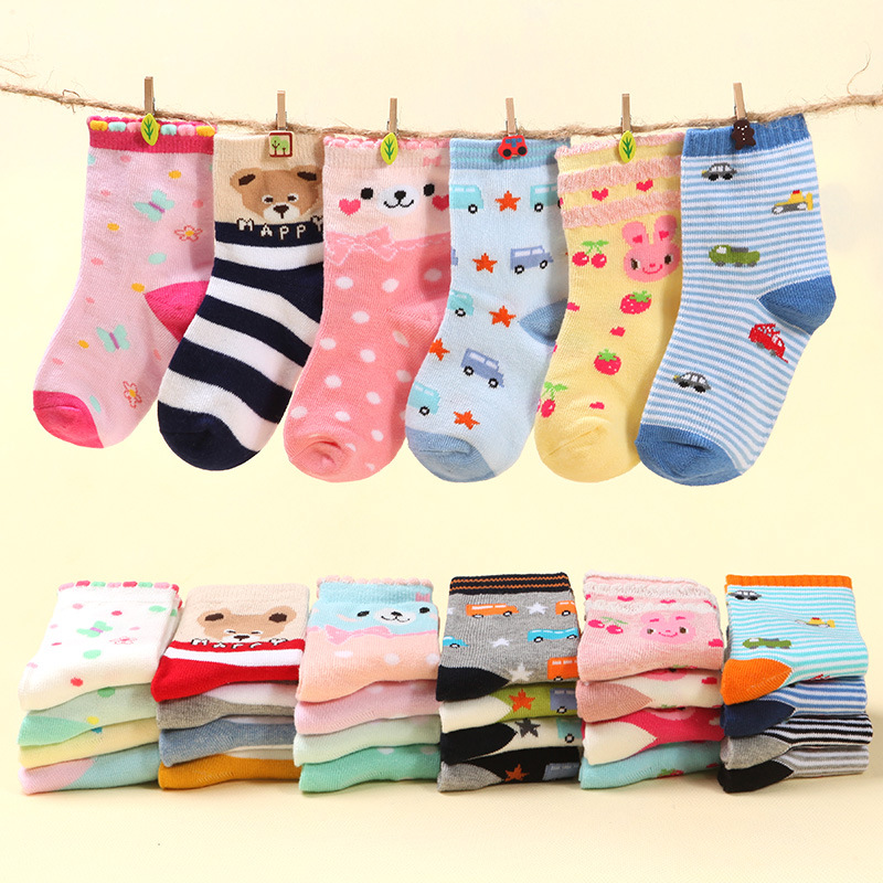 Wholesale 20 pairs Children Short Socks New Designs Print Cartoon Casual meias Kids Boys Girls Cotton calcetines 15-01(China (Mainland))