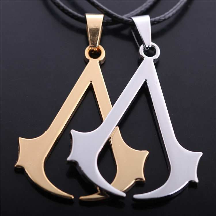 Free shipping Jewelry Assassins Creed 3 III Conner Creed Assassin's Cosplay Alloy Necklace Pendant Fashion Necklace Jewelry