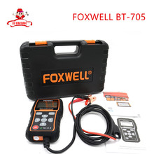 Free shipping Original Foxwell BT 705 BT705 BT-705 12 Volt Battery Analyzer Tester Directly Detect Bad Car Cell Battery(China (Mainland))