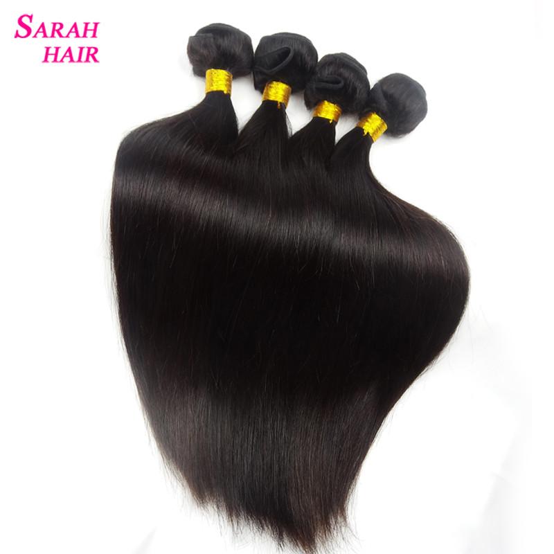 Купить Волосы и аксессуары  Sarah Hair Brazilian Virgin Hair Gaga Hair 3 Bundles Grade 7A Virgin Brazilian Straight Hair Weave Bundles Very Soft Dyable None