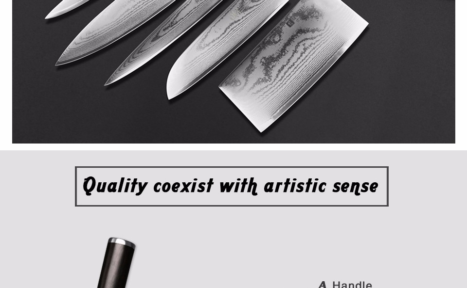 "Buy XINZUO 5"" inch Utility knife Japan VG10 Damascus steel kitchen knives /Universal knife with ebony wood handle MADE IN CHINA cheap"