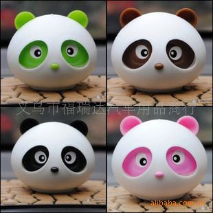 Car Solid Perfume Panda Aroma Lovely Compact Beautiful Dashboard Decoration Jasmine, Lavender, Honey Peach(China (Mainland))