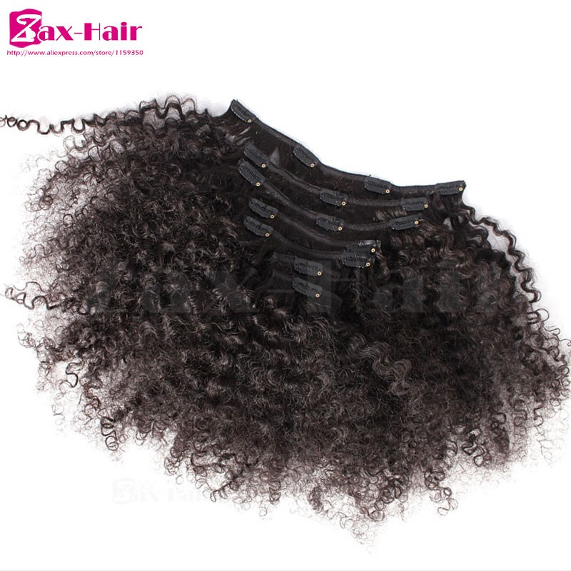 Kinky Curly Clip In human Hair Extensions Sale Clip In Hair Extensions 7A Virgin Brazilian Human Hair Clip In Hair 7 pcs 10 pcs