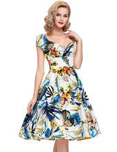50s Vintage dresses 2016 new style summer dress Audrey Hepburn Vestidos cap sleeve floral printed robe de Vestidos Femininos(China (Mainland))
