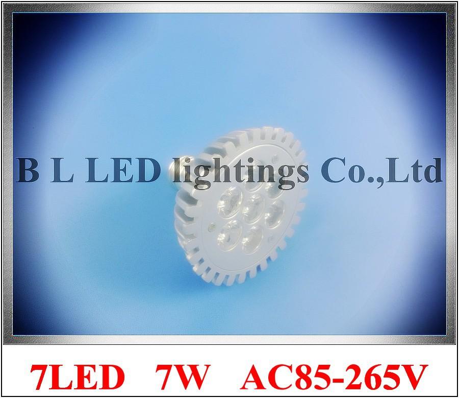 die casting aluminum high quality LED spot light lamp spotlight bulb LED par light parlight E27 AC85-265V 7LED 7W 560lm(China (Mainland))