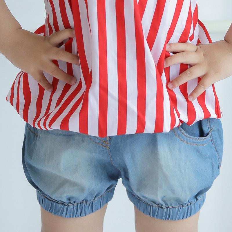 D G denim shorts for boys girls cotton bloomers girls brand shorts Jeans knickerbockers kids summer fashion children's clothing(China (Mainland))