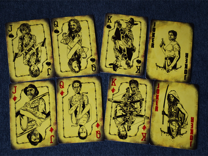 New 54pcs 1Set The Walking Dead Don't Open Dead Inside 300g HD Copper Paper Playing Cards --- Loveful(China (Mainland))