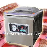free shipping, automatic single room plastic bag vacuum sealing machine, english panel,