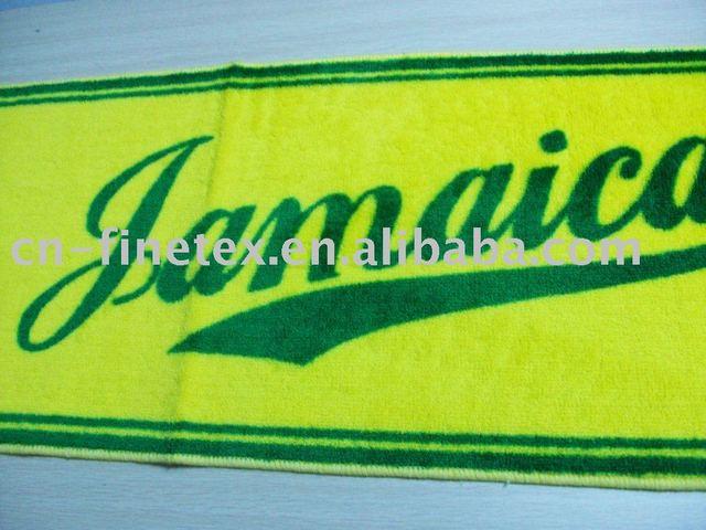100%Acrylic High quality new I love Jamaica anti-slip long mat bath mat
