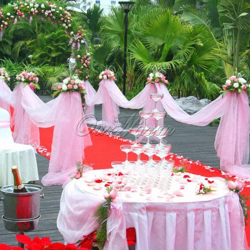 Organza Sheer Roll DIY Fabric 10M 5M Wedding party Banquet Events decoration(China (Mainland))