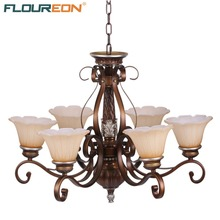 Floureon Chandelier Light 20W~50W E27,Oil Paint Steel Retro European-Style Chandelier for Bedroom,Living Room(China (Mainland))