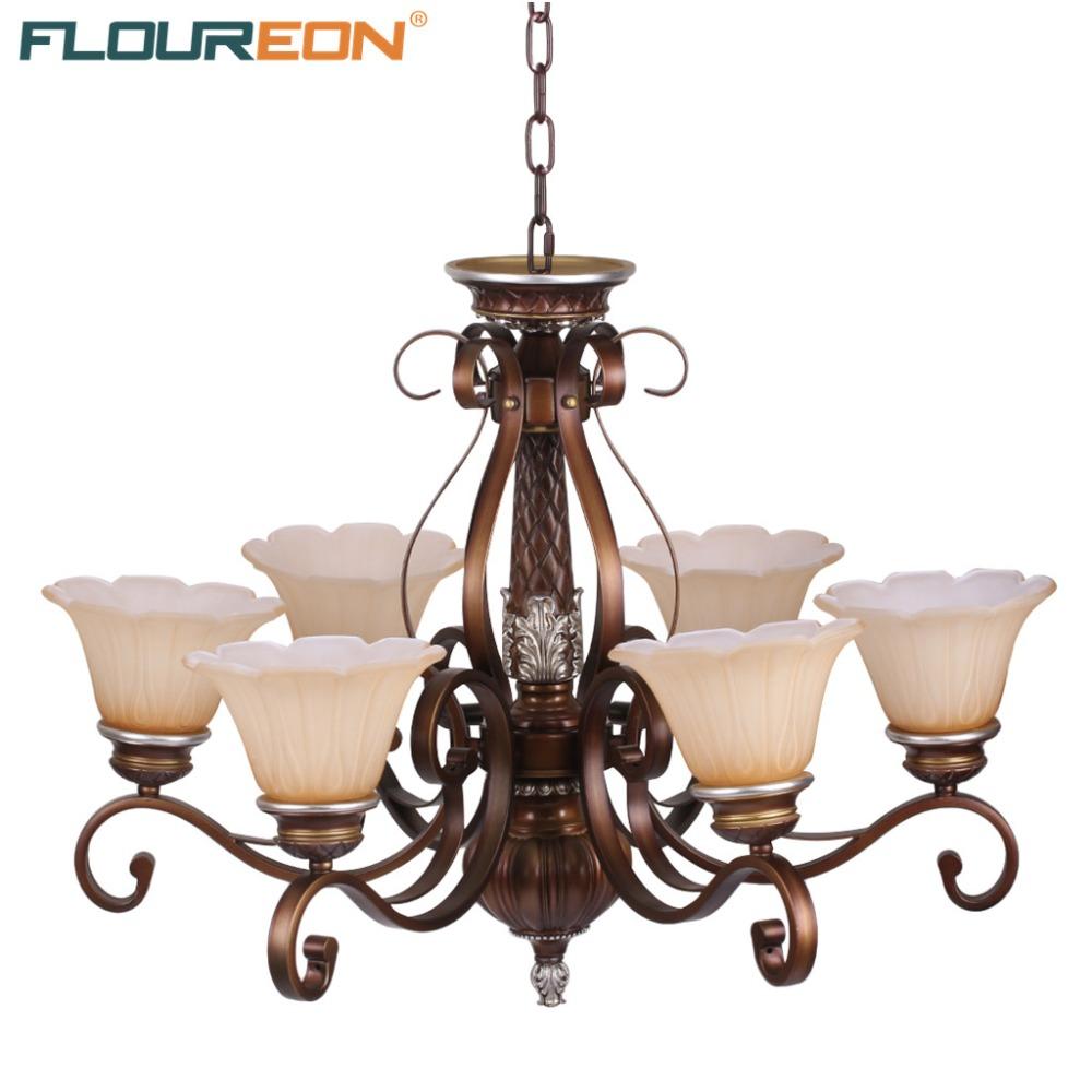 Floureon Chandelier Light 20W~50W E27,Oil Paint Steel Retro European-Style Chandelier for Bedroom,Living Room(China (Mainland))