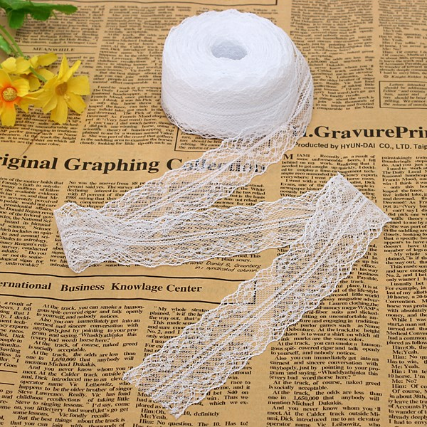 New 10 Yards Cotton White Elegant Embroidery Decoration Net Water Soluble Lace White Lace and Lady Women Necessary(China (Mainland))