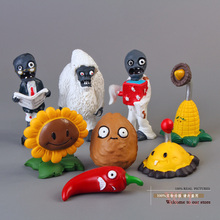 Buy Hot game PVZ Plants vs. Zombies Toys SunFlower Potato Mine Jalapeno Zombie Yeti PVC Action Figures Dolls 8pcs/set ANPZ002 for $8.19 in AliExpress store