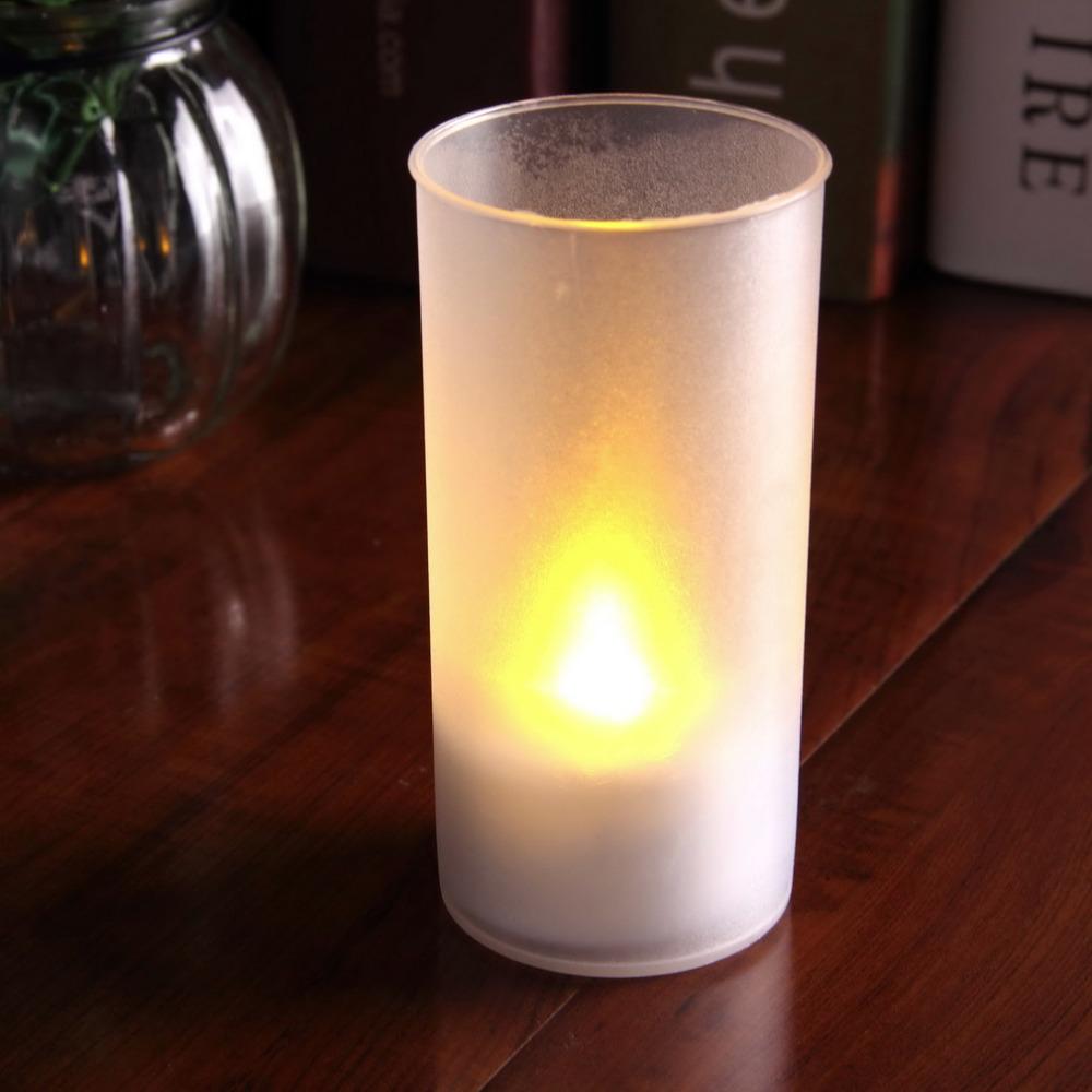 5PC Romantic Shake Sound Sensor Flameless Blow LED Candle Light Semitransparent Cup Tea Light(China (Mainland))