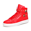 extra large size US11 Euro45 mens snow ankle boots fashion five stars decoration metal plus big