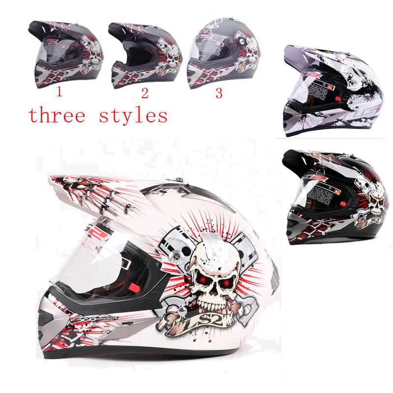 Фотография Motocross LS2  MX433 Red white skynet motorcycle helme,full face off road casque moto helmets,L XL XXL SIZE,BLACK  WHITE COLOR