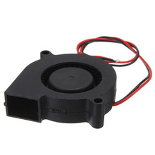 2016 Hot Sale 50 x 50 x 15mm Electronic 3D Printer 12V DC 50mm Blow Radial Cooling Fan Double ball bearing long life low noisy