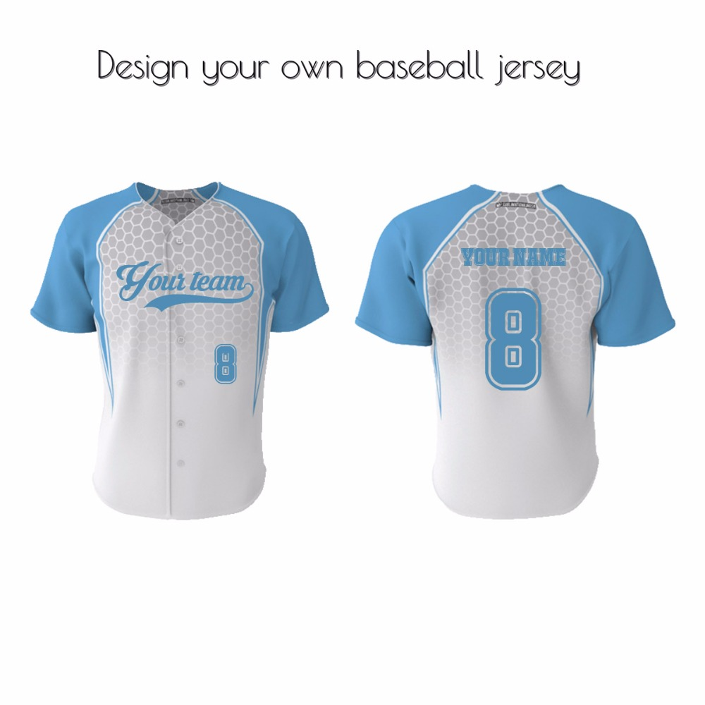 custom cheap wholesale plain blank baseball jerseys worldwide button stylish baseball jersey(China (Mainland))
