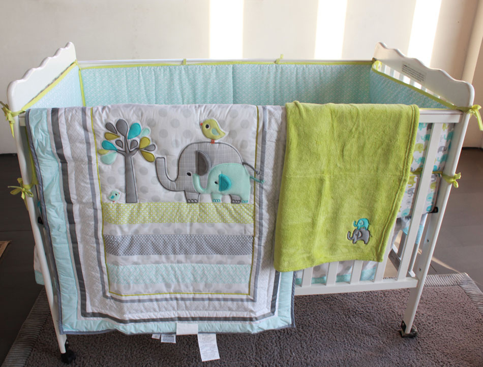 baby boy nursery bedding elephants 1
