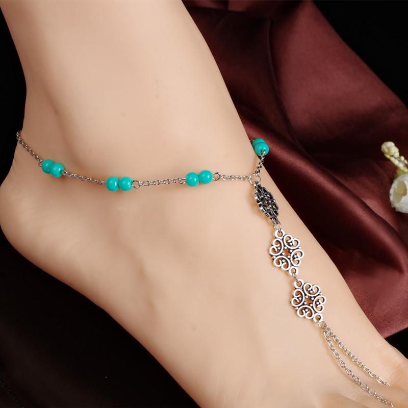 Fashion Summer Handmade Ankle Bracelet Bead Chain Anklet Foot Leg Chain Bracelet Foot Jewelry Anklets For Women(China (Mainland))