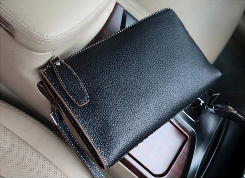 2015 New Fashion and Business Men & Women handbag 100% Genuine Leather Bag Day Clutches for male Cowhide real leather man bag(China (Mainland))