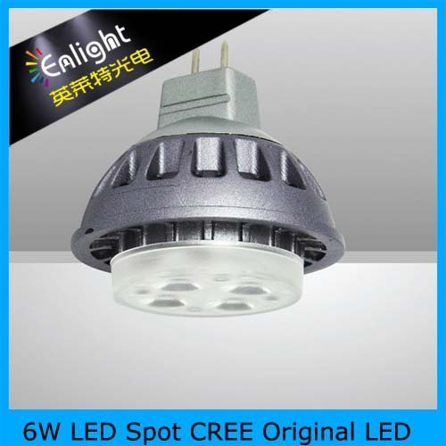 Hot sale! 6W LED Spot CREE chip, CE Rohs, LED Spotlight, 360lm 12V DC