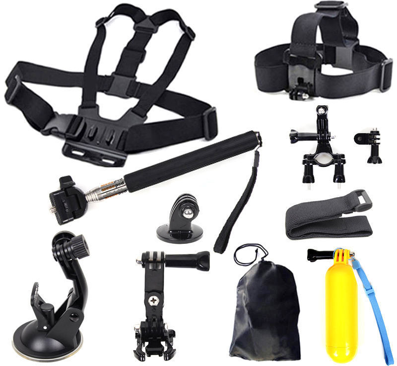 Head Chest Mount Floating Monopod Pole Accessories For GoPro Hero 1 2