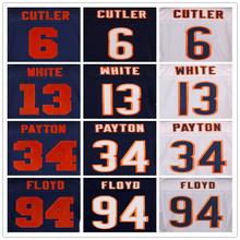 Men's stitched jersey, 6 CUTLER 13 White 17 Jeffery 34 Payton 94 Floyd jersey(China (Mainland))