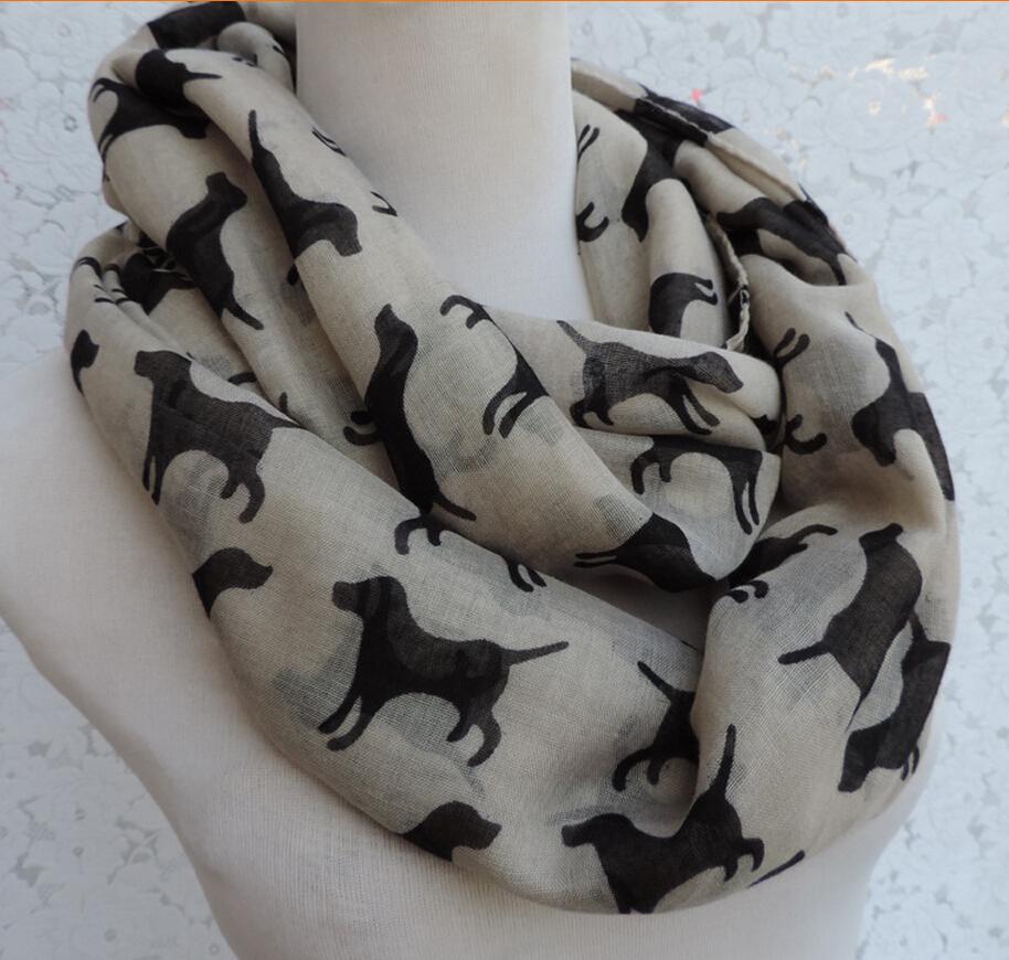 Wholesale Drop shipping 12 pcs/lot  Fashion Dog Labrador Scarf Shawl Wrap Labrador dog infinity scarvesОдежда и ак�е��уары<br><br><br>Aliexpress