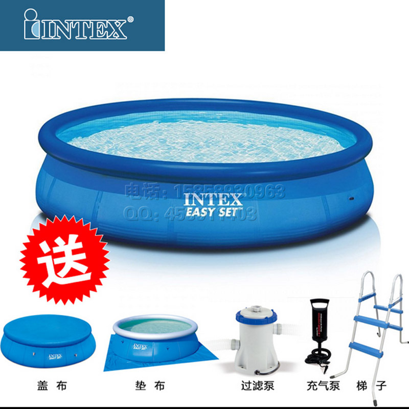 intex adult household indoor inflatable swimming pool large inflatable pool ultrahigh-type adult child(China (Mainland))