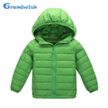 Grandwish New Winter Girls and Boys Solid Down Jackets Kids Hooded Warm Coat Outerwear Kids Casual