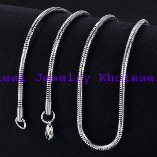 Newst Fashion jewelry Stainless Steel Lobster Clasp 3.8mm Silver Necklaces Snake Chains Jewelry Classic Style Men Gift - store