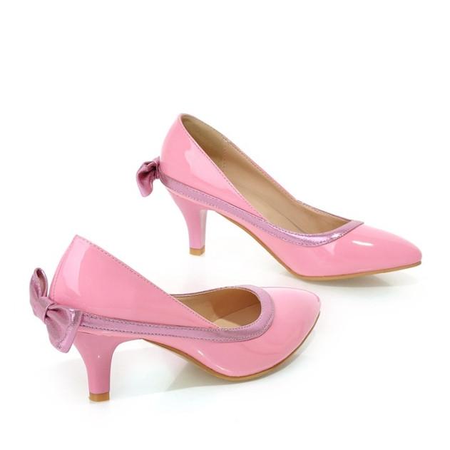 2016 Plus Size 32-43 Womens Pumps Fashion Sexy Elegant Pointed Toe Spike Mid Heel Hot Sale Women Shoes Black Beige Pink AA319<br><br>Aliexpress