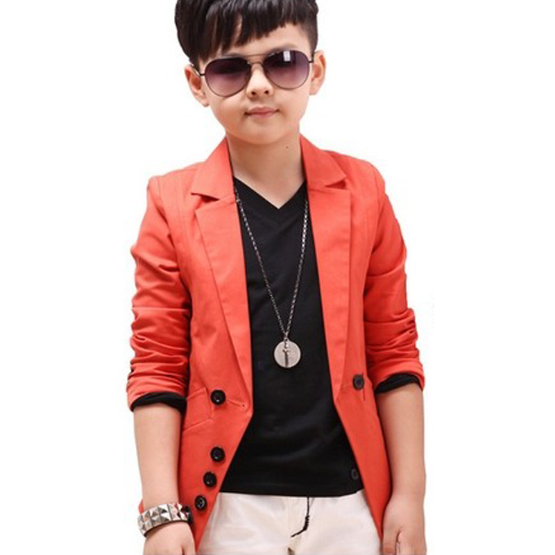 Kids Big Boy Casual Blazers Spring Children Fashion Cotton Jackets&Coats Baby Costume Black 100-140cm roupas infantis menino(China (Mainland))