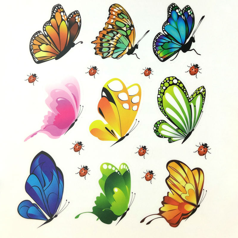 Butterflies Wall Sticker Decals 18pcs PVC DIY Wall Stickers For Kids Rooms Fridge Living Room Home Decor Removable Art Poster(China (Mainland))