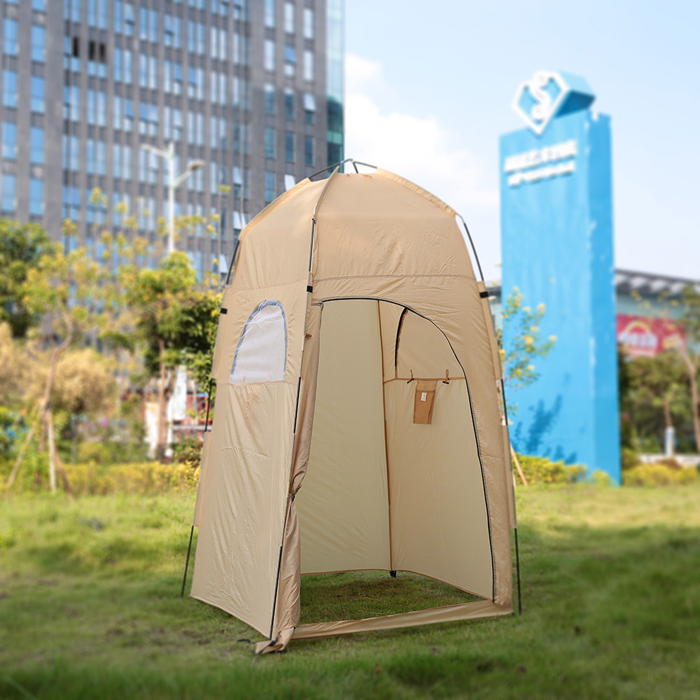 TOMSHOO Portable Outdoor Shower Bath Changing Fitting Room Tent Shelter Camping Beach Privacy Toilet(China (Mainland))