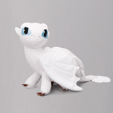 Exclusivo 35cm branco desdentado como treinar seu brinquedo de pelúcia dragon3 fúria da noite dragão branco luz fúria boneca de pelúcia brinquedos(China)