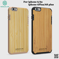 Nillkin bamboo Back Cover Case For iPhone 6 6S Plus Free Tempered Glass Screen Protector