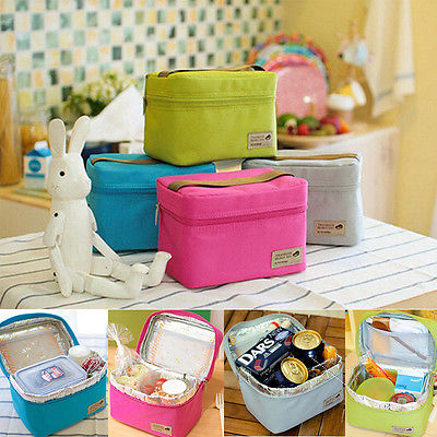 NEW Cute Portable Thermal Insulated Lunch Box Melti Coler Picnic Tote Storage Bag Pouch Lunchbags New(China (Mainland))