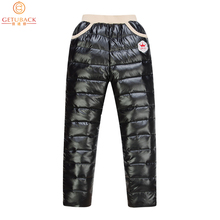 Winter 2016 New Arrival Boys & Girls Thicken Down Pants Kids Warm High Waist Solid Pants Children Brand Winter Clothes , LC556(China (Mainland))