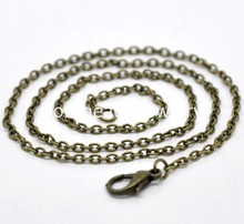 """Buy DoreenBeads 12 Bronze Tone Lobster Clasp Chain Necklaces 2x3mm 18"""", B14104 for $2.48 in AliExpress store"""