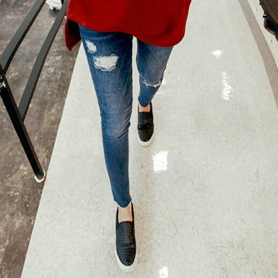 Retail Clothes For Pregnant Women Hole Maternity jeans Skinny Pants Cotton Prop Belly Trousers Denim Pencil Pants 0192