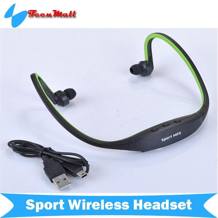 Гаджет  Sport Wireless Headset In Ear loop Headphones Micro SD/TF Card FM Radio Music MP3 Player Portable None Бытовая электроника