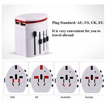 Buy Convinient One Universal International Plug Adapter 2 USB Port World Travel AC Power Charger Adaptor AU US UK EU Plu for $5.93 in AliExpress store