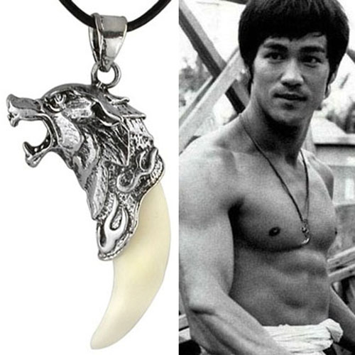 Trendy Wolf Tooth Brave Man's Necklace Titanium Steel Domineering Pendant Jewelry(China (Mainland))