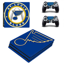 Buy NHL St Louis Blues PS4 Pro Skin Sticker Decal Sony PS4 PlayStation 4 Pro Console 2 Controllers Stickers for $9.40 in AliExpress store