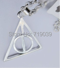 Buy 30pcs/lot Wholesale Fashion Jewelry Silver Charm HP DEATHLY HALLOWS LOGO METAL NECKLACE,original factory supply for $19.75 in AliExpress store